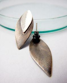 Leaves - earrings, silver 925. http://kropinska.pl/bizuteria/liscie/