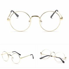251a1902685 Hot Chic Eyeglasses Retro Big Round Metal Frame Clear Lens Glasses Nerd  Spectacles Reading Glasses Women