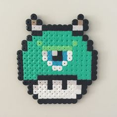 Perler bead mushroom monsters inc. Mike - by Bjrnbr