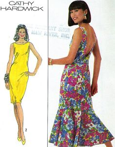 318b907530 1980s Dress Pattern Simplicity 7997 Sleeveless Low by paneenjerez