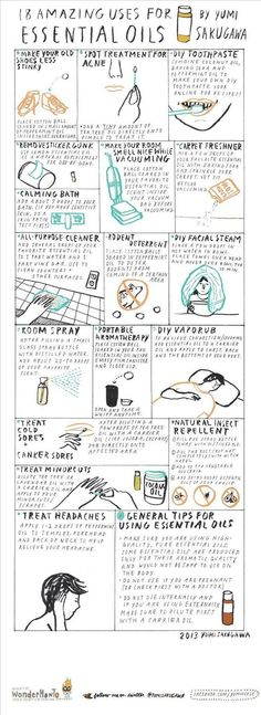 18 Amazing Uses for Essential Oils   Thesecretyumiverse - Commonly used for aromatherapy purposes, essential oils can also be used to remove sticker gunk, make your room smell nice while vacuuming, concoct DIY toothpaste, deter rodents from hanging out in your house, & more... #Aromatherapy