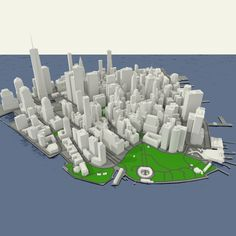 NYC Lower Manhattan Financial District Model in Buildings Free Nyc, City Model, 3d Architecture, Low Poly 3d, Lower Manhattan, 3d Projects, Facade, 3d Printing, Exterior