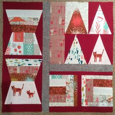 """""""One down. 24 more. Should not have started this tonight. #patchworkcity #cottonandsteel"""""""
