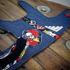 Denim and Skull Dog Harness Dog Vest Denim Jacket by PupaChurros