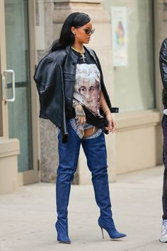 Rihanna x Manolo Boots