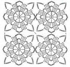 New Woman's Crochet Patterns Part 16 - Beautiful Crochet Patterns and Knitting Patterns Filet Crochet, Crochet Shawl Diagram, Beau Crochet, Crochet Motifs, Crochet Blocks, Crochet Stitches Patterns, Crochet Chart, Crochet Squares, Thread Crochet