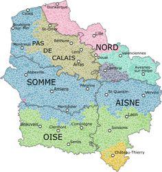 Carte De La Region Avec Ses Departements Montrant Les Provinces Qui Existaient Sur Son Territoire