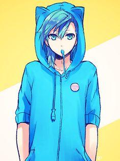 Heehee, a blue Neko guy ^u^ My DREAM GUY LATER ME IN LIFE