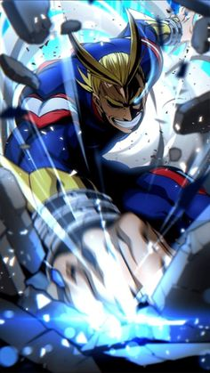 All might from my hero academia art ,so cool! Manga Anime, Me Anime, Fanarts Anime, Anime Art, Anime Guys, My Hero Academia Episodes, My Hero Academia Memes, Hero Academia Characters, Anime Characters