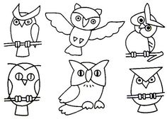 Preschool Printable Owl Coloring Pages