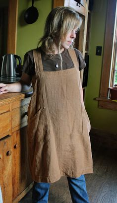 Hey, I found this really awesome Etsy listing at https://www.etsy.com/listing/197668321/pinafore-apron-heavyweight-100-flax