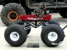 myPowerBlock: Little Xtreme fan in Offroad Wagon Custom Radio Flyer Wagon, Radio Flyer Wagons, Off Road Wagon, Kids Wagon, Pull Wagon, Rat Rod Cars, Little Red Wagon, Power Wheels, Weird Cars
