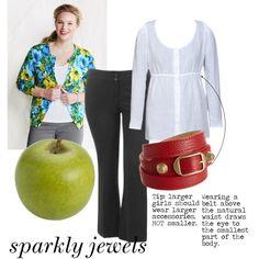"""dress an apple shape: everyday"" by rachaelpainter on Polyvore"