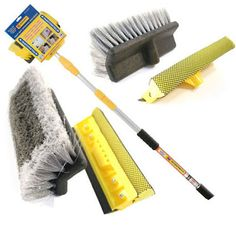 Extendable Aluminium Telescopic Water Fed Window Car Cleaner Wash Brush for sale online Stair Ladder, Wooden Staircases, Wash Brush, Extruded Aluminum, Loft Spaces, Window Cleaner, Car Wash, Telescope, Windows