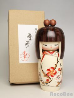 Japanese Wooden Kokeshi Doll Dolls -Spring Dream