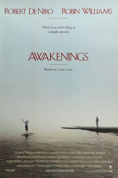 "Awakenings (1990) Vintage Advance One Sheet Movie Poster - 27"" x 40""  A vintage, advance one-sheet (27""x40"") movie poster from 1990 for Awakenings starring Robin Williams, Robert De Niro, John Heard, Julie Kavner, Penelope Ann Miller and Max von Sydow. Penny Marshall directed the drama based on on Oliver Sacks's 1973 memoir Awakenings.   The double-sided poster measures 27""x 40""and is in very good condition with little to no edge wear from handling."