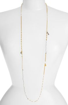 'Beaded Charms' Station Necklace