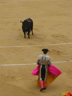 Bullfight at Plaza de Toros, Madrid  Spain.I was there in 1974! Would love to go back.