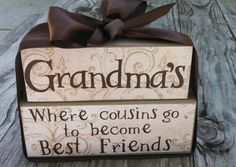 Personalized wood stackable blocks Grandma -Wood Stack block set for grandparent baby girl or boy nursey blocks - Great Baby gift