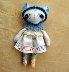Handmade doll art doll ragdoll clothdoll by ShylingsAndGhosts