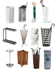 Best Umbrella Stands 2012 Apartment Therapy's Annual Guide - I personally love the owl. Umbrella Holder, Umbrella Stands, Best Umbrella, Rack Design, Stand Design, Booth Design, Banner Design, Foyer Decorating, Closet Bedroom