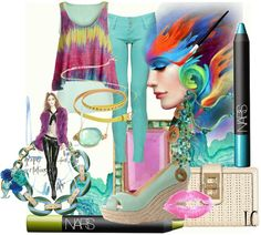 """""""Watercolor Fashion Set"""" by lindacaricofe on Polyvore"""