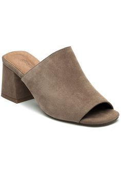 Jeffrey Campbell Perpetua Taupe Suede Mule - Jildor Shoes, Since 1949