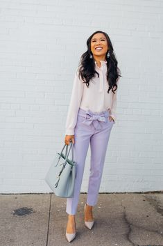 768c37bf890 How to Style Lavender Pants for Spring
