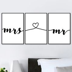 """Wall Art Canvas Painting Nordic Posters Prints Mr Mrs Romantic Love Quotes Pictures For Living Room Home Wedding Decoration"" Picture Wall Living Room, Living Room Pictures, Wall Pictures, Love Wall Art, Modern Wall Art, Home Wedding Decorations, Poster Prints, Posters, Cheap Paintings"