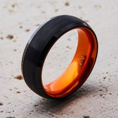 Black Tungsten Ring - Resilient Orange – EMBR