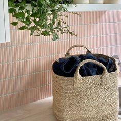 Interior Design Ideas and Inspiration - Tile Cloud White Square Tiles, White Tiles, Concrete Look Tile, Fish Scale Tile, Coloured Grout, Hair Salon Interior, Online Tile Store, Pink Fish, Bathroom Renovations