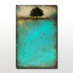 Abstract Tree Painting Landscape Art Large by BrittsFineArt, $425.00