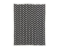 Plaid de algodón, negro y blanco I - 150x125 cm