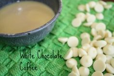 White chocolate coffee - homemade and inexpensive.