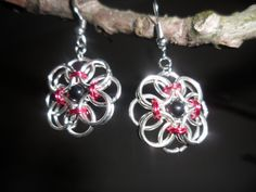 Onyx Chainmaille Earrings by dreamwvr81 on Etsy, $10.00#Repin By:Pinterest++ for iPad#