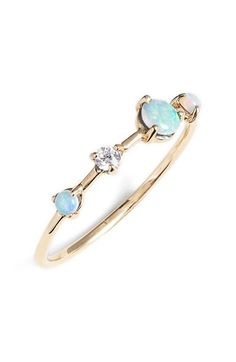 WWAKE+'Counting+Collection+-+Large+Four-Step'+Opal+&+Diamond+Ring+available+at+#Nordstrom