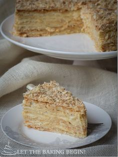 """Love this recipe. It's even better then the Napoleon cakes I tried in Paris! Seriously."" - A Napoleon Cake Can not get better than this. by LettheBakingBeginBlog.com"
