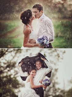Rain on your wedding day..... I love it!