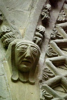 12th Century carving at Bayeux Cathedral, Normandy, France.