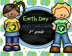 Earth Day themed Math Task Cards for third grade. All 20 task cards are in color and have word problems as their questions. A recording sheet for students and an answer key is also included.Word problems use a combination of standards: 3.OA.1, 3.OA.3, 3.OA.8, 3.NBT.2, 3.NBT.3, 3.MD.7, and 3.MD.1Multiplication, 2 step word problems, area by multiplication, elapsed time, adding and subtracting within a 1,000.