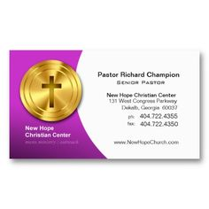 golden cross christian symbol ministerpastor business card template business card templates elegant business - Pastor Business Cards