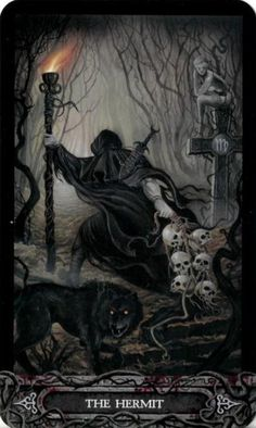 The Hermit from the Tarot of Vampyres Learning how to do tarot is fun, but there's so much you need to remember. #takestimefosho