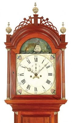 Rocking Ship Tall Case Clock from Delaney Antique Clocks