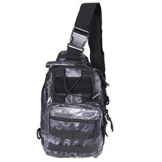 Chest Bag With Molle Military Pouch Tactical Shoulder Strap Bag Outdoor Army For Men Camping Hiking Black Bags