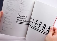 Lucky Number Slevin: Typographic book. by Kendall Henderson, via Behance