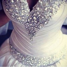 Gorgeous wedding dress with a bit of bling