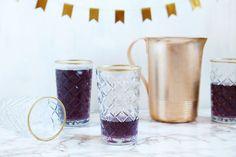 gold rimmed glass