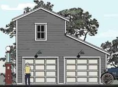 28\' x 32\' 2-Car Garage with Apartment at Menards | Pocket homes ...
