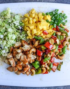 CASHEW CHICKEN CHOPPED SALAD WITH CHILI DUSTED MANGO. - Recipes