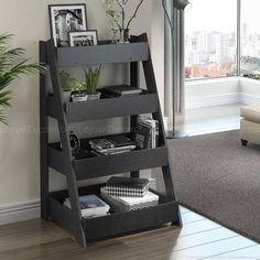 Estante Escada 1001 Life Carbono Trama - BE Mobiliário